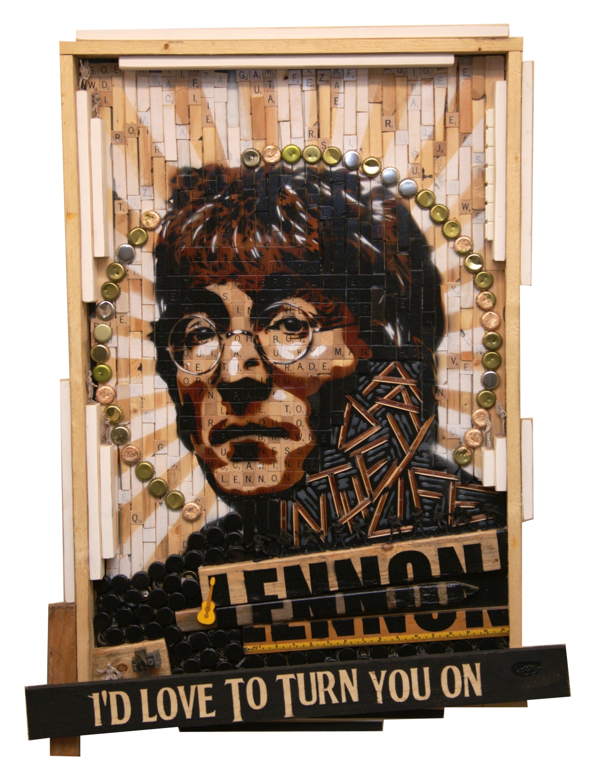 john lennon, art, i'd love to turn you on, mixed media, rich cihlar, e11even 2, cleveland, artists